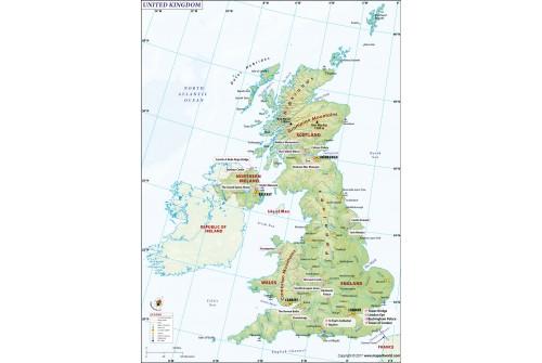 UK (United Kingdom) Map