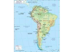 South America Continent Map - Digital File