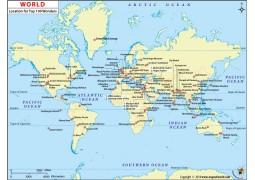 100 Wonders World Map