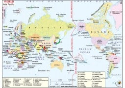 World Asia Pacific Map - Digital File