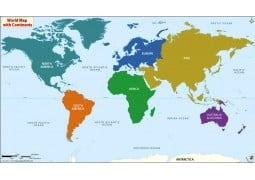 World's Best Continents Map