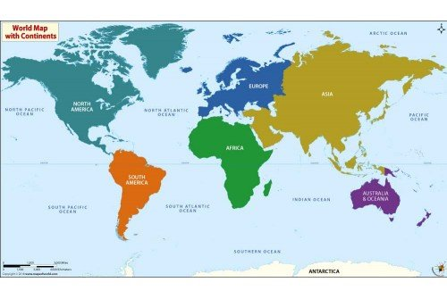 World Best Continents Map