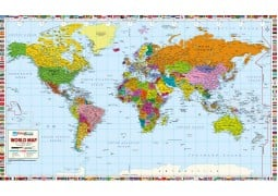 "World Map Professional Edition - Paper (78"" W x 47"" H)"