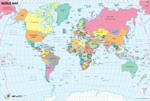 World Country Capital Map