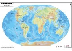 World Map of Fault Lines - Digital File