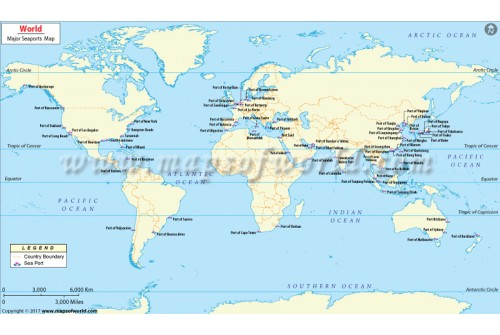 Buy world sea port map major ports of the world world sea ports map gumiabroncs Image collections