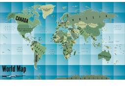 World Map Art-Gradient