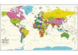 World Map Vivid Poster