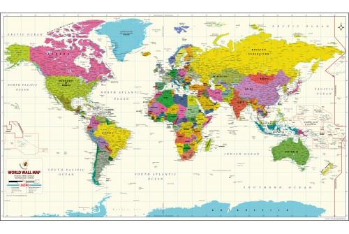 World Map Vivid