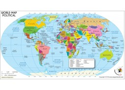 World-Political-Map-Robinson Projection