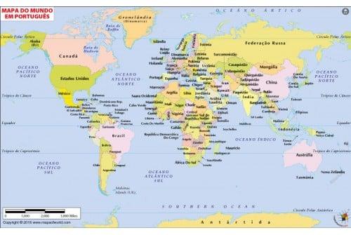 PortugueseWorld Map (Mapa do Mundo)