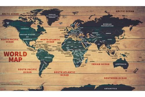 World Wood Map