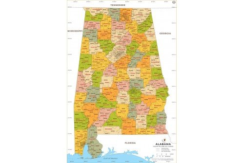Alabama Zip Code Map With Counties