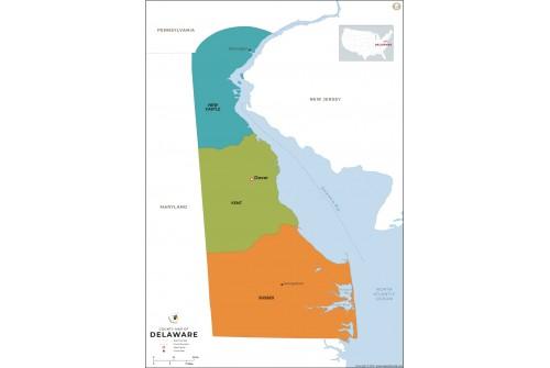 Delaware County Map