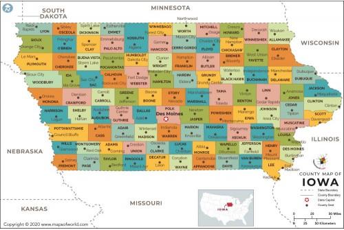 Iowa County Map