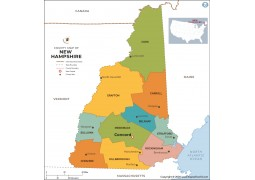 New Hampshire County Map - Digital File