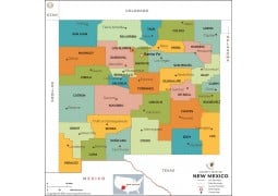 New Mexico County Map - Digital File