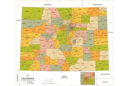 Colorado Zip Code Map With Counties