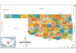 Oklahoma County Map  - Digital File