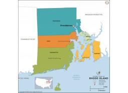 Rhode Island County Map