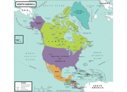 North America Political-Map Vivid
