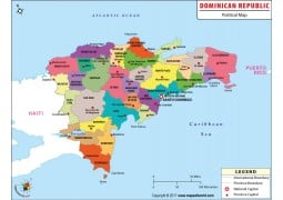 Dominican Republic Political Map