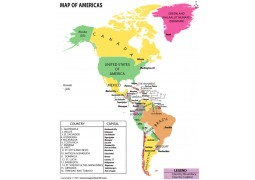 Map of Americas - Digital File