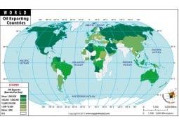 World Oil Exporting Countries Map