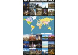 World Top 25 Destinations Map - Digital File