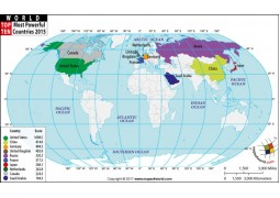 Top Ten Powerful Countries of World - Digital File