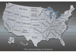 USA Metal Map - Digital File