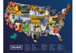 USA Photos Map Poster