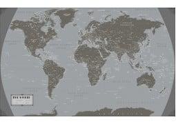 World Art Deco 2 Map Poster - Digital File