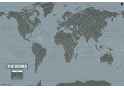 World Map Art-Deco Poster