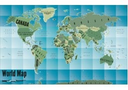 World Map Art-Gradient - Digital File