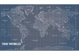 World Map Blueprint Poster