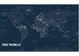 World Map Blueprint - Digital File