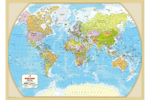 Buy large world political map map of the world view details gumiabroncs Images