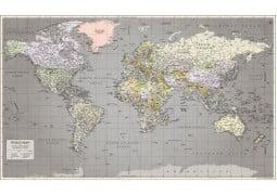 World Map Retro - Digital File