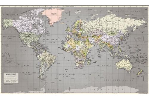 World Map Retro