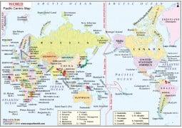 Pacific CenteredWorld Map - Digital File
