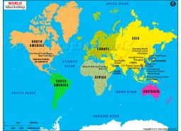 Tallest Buildings in the World Map