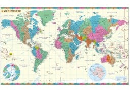 World Time Zone Map Poster