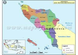 Aceh Province Map - Digital File