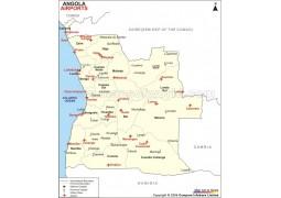 Angola Airports Map - Digital File
