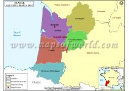 Map of Aquitaine - Digital File