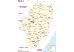 Aragon Road Network Map - Digital File