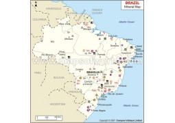 Brazil Minerals Map - Digital File