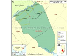Burlington County Map - Digital File