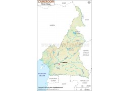 Cameroon River Map